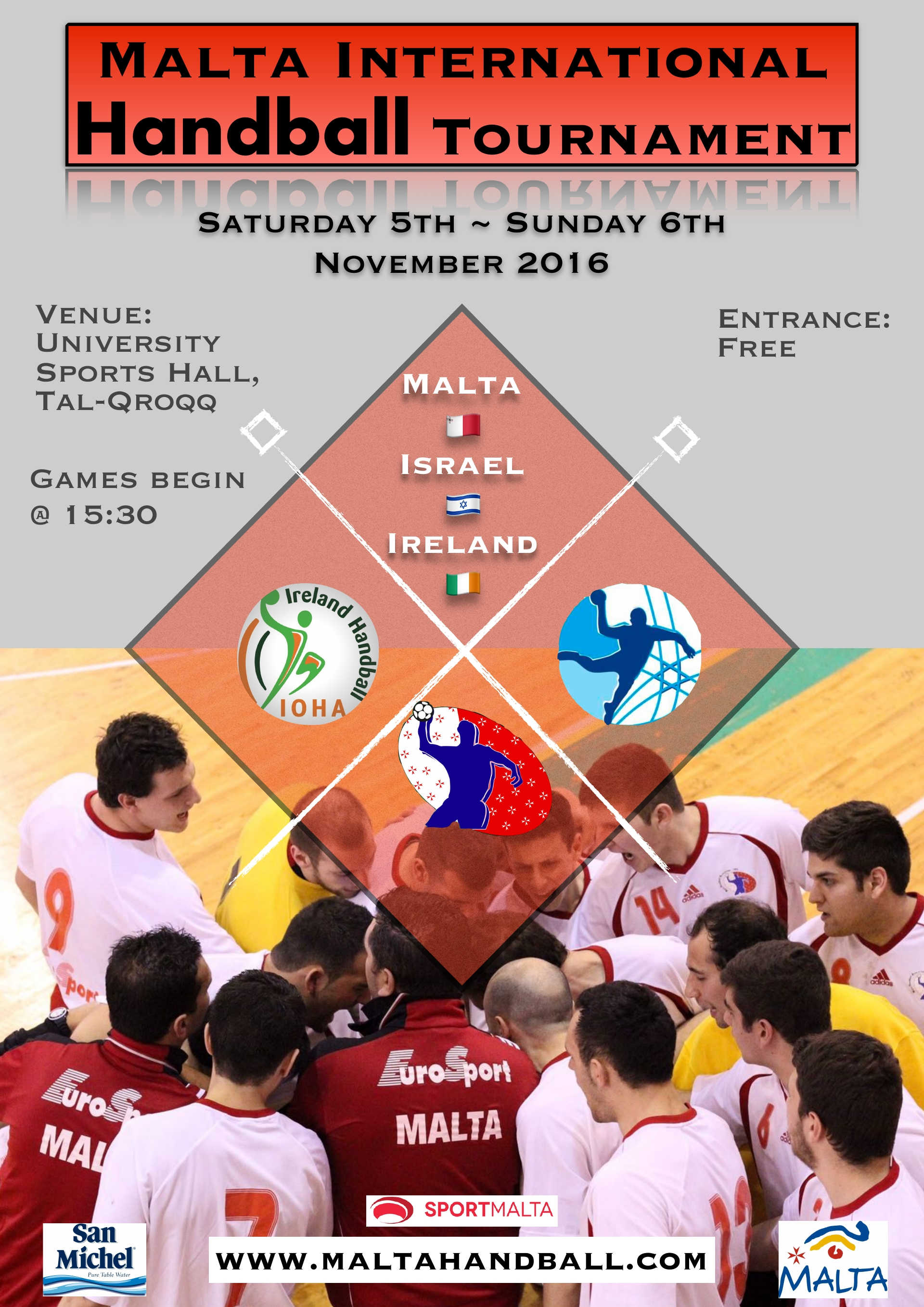 Malta International Handball Tournament @ University Sports Hall | Gzira | Malta